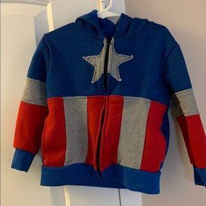 Boys Marvel Captain America hoodie